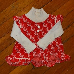 Vintage red and white Carter's duck shirt
